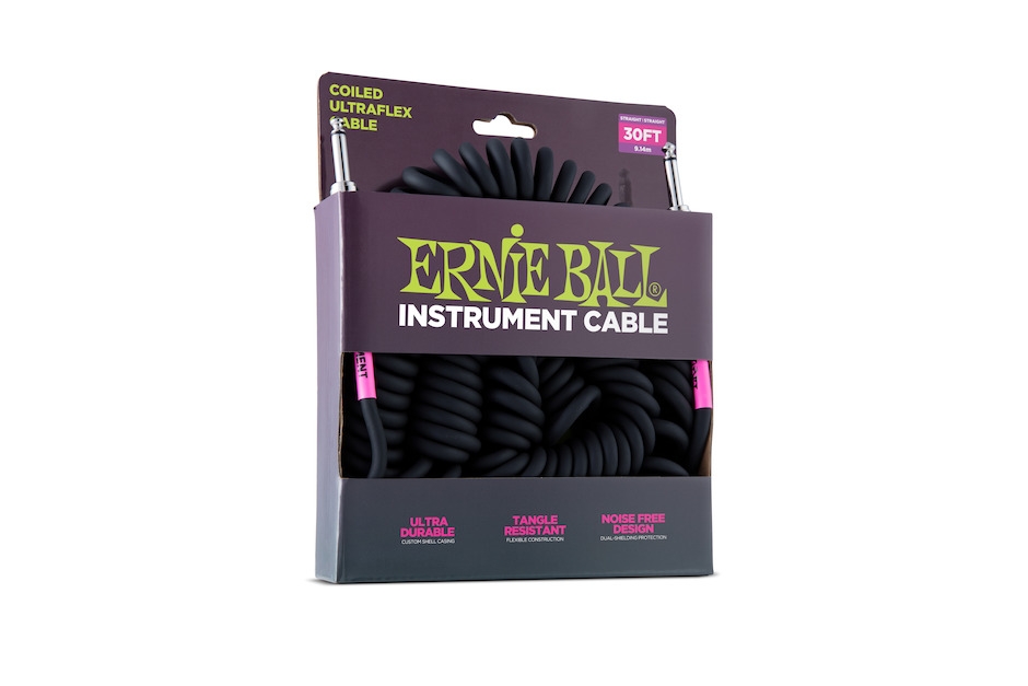 Image of   Ernie Ball 6044 Spiral Kabel, 10m. Black.