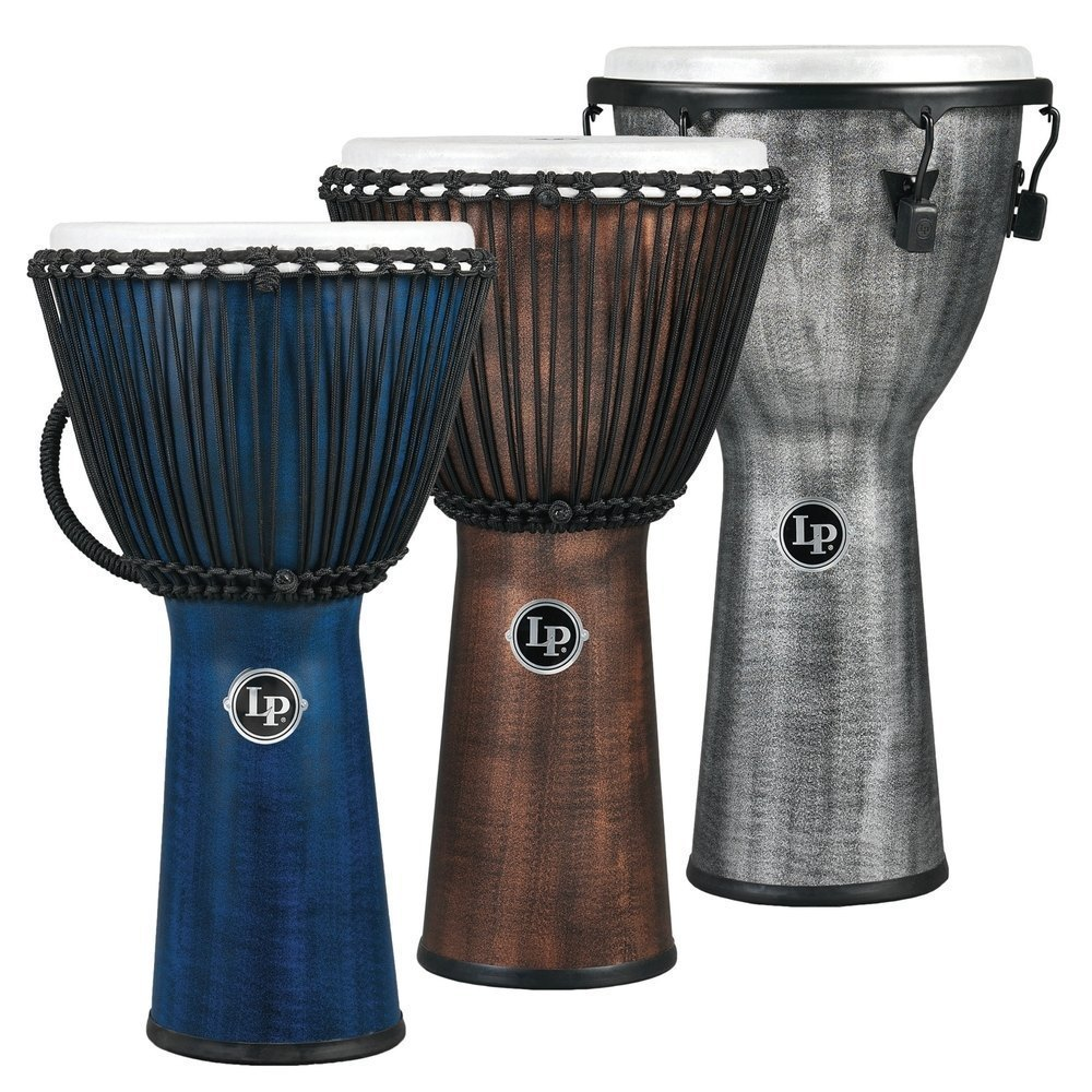 Image of   Djembe World Beat FX Rope Tuned Blue
