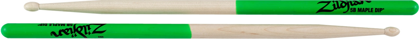 ZILDJIAN MAPLE GREEN DIP Series 5BMG