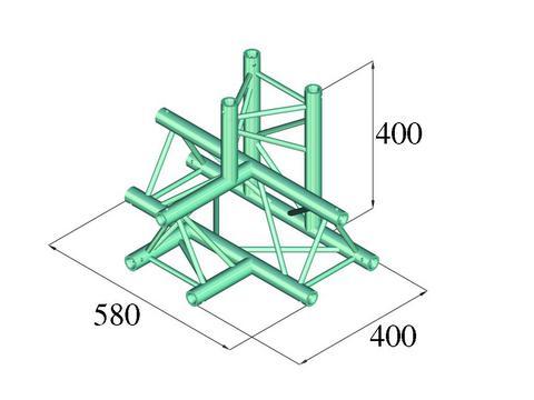 Alutruss DECOLOCK DQ3-PAT42 4-way T-piece \/