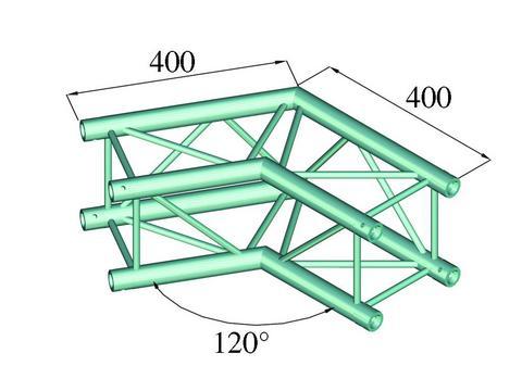 Alutruss DECOLOCK DQ4-PAC22 2-way corner 120°
