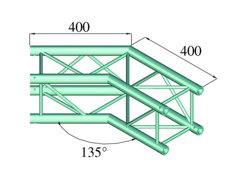Alutruss DECOLOCK DQ4-PAC23 2-way corner 135°