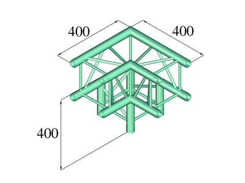 Alutruss DECOLOCK DQ4-PAL30 3-way corner 90°