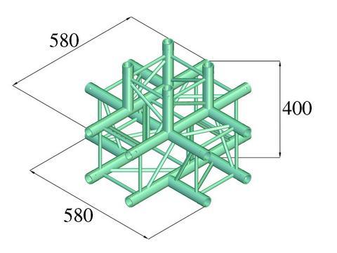 Alutruss DECOLOCK DQ4-PAT51 5-way corner