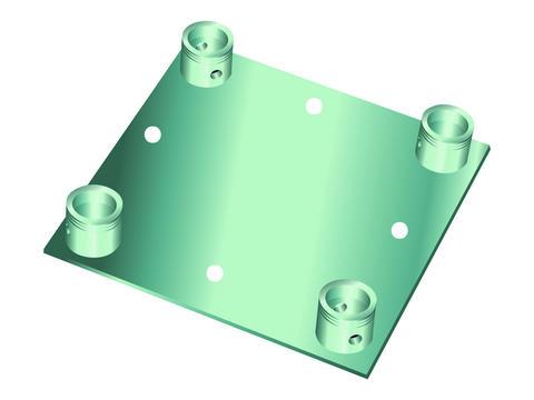 Billede af Alutruss DECOLOCK DQ4-WP wall mounting plate