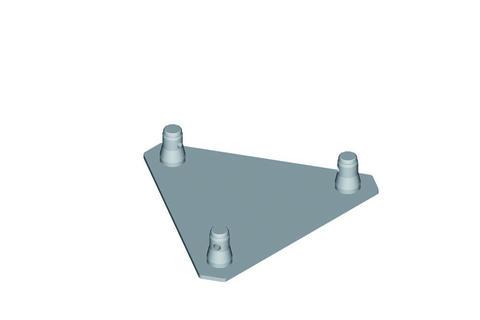 Image of   Alutruss TRILOCK base/wall-plate QTG-male