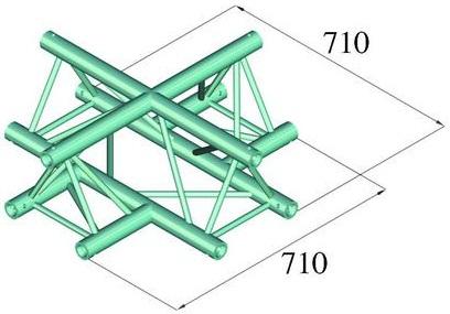 Image of   Alutruss TRILOCK 6082AC-41 4-way cross