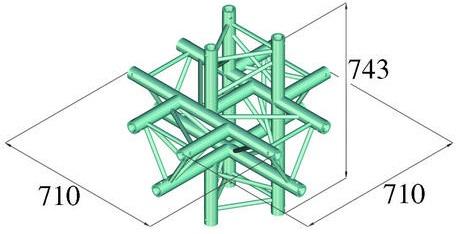 Image of   Alutruss TRILOCK 6082AC-61 6-way piece