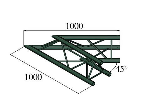 Image of   Alutruss TRILOCK S-PAC 19 2-way corner 45° black