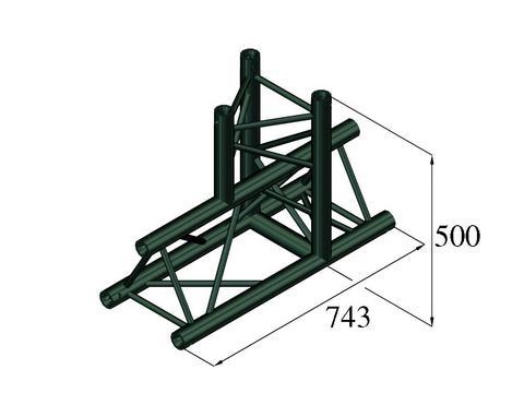 Image of   Alutruss TRILOCK S-PAT-37 3-way T-piece black