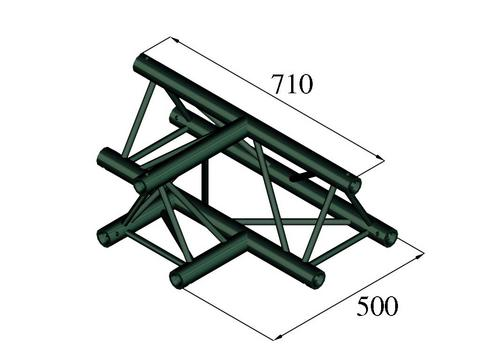Image of   Alutruss TRILOCK S-PAT-36 3-way T-piece black