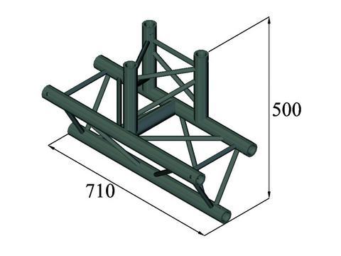 Image of   Alutruss TRILOCK S-PAT-38 3-way T-piece black
