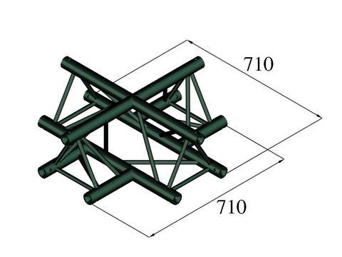 Image of   Alutruss TRILOCK S-PAC-41 4-way cross black