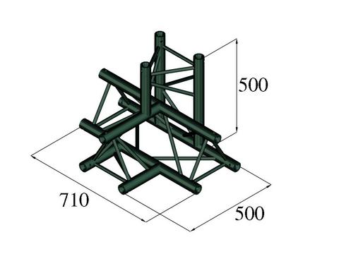 Image of   Alutruss TRILOCK S-PAT-42 4-way piece \/ black