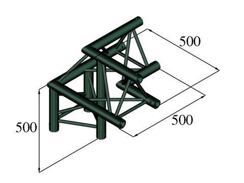 Image of   Alutruss TRILOCK S-PAL-31 3-way corner /\ right black