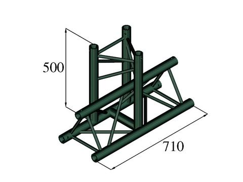 Image of   Alutruss TRILOCK S-PAT-35 3-way T-piece black