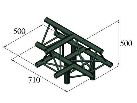 Alutruss TRILOCK S-PAT-43 4-way piece /\ black