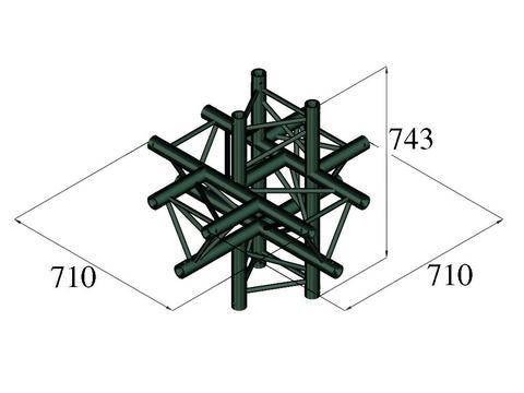 Image of   Alutruss TRILOCK S-PAC-61 6-way piece black