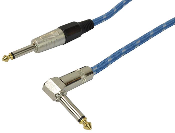 Billede af Cobra, Instrument Kabel 6.3 mm Jack mono til 6.3 mm vinkel Jack mono 6 meter