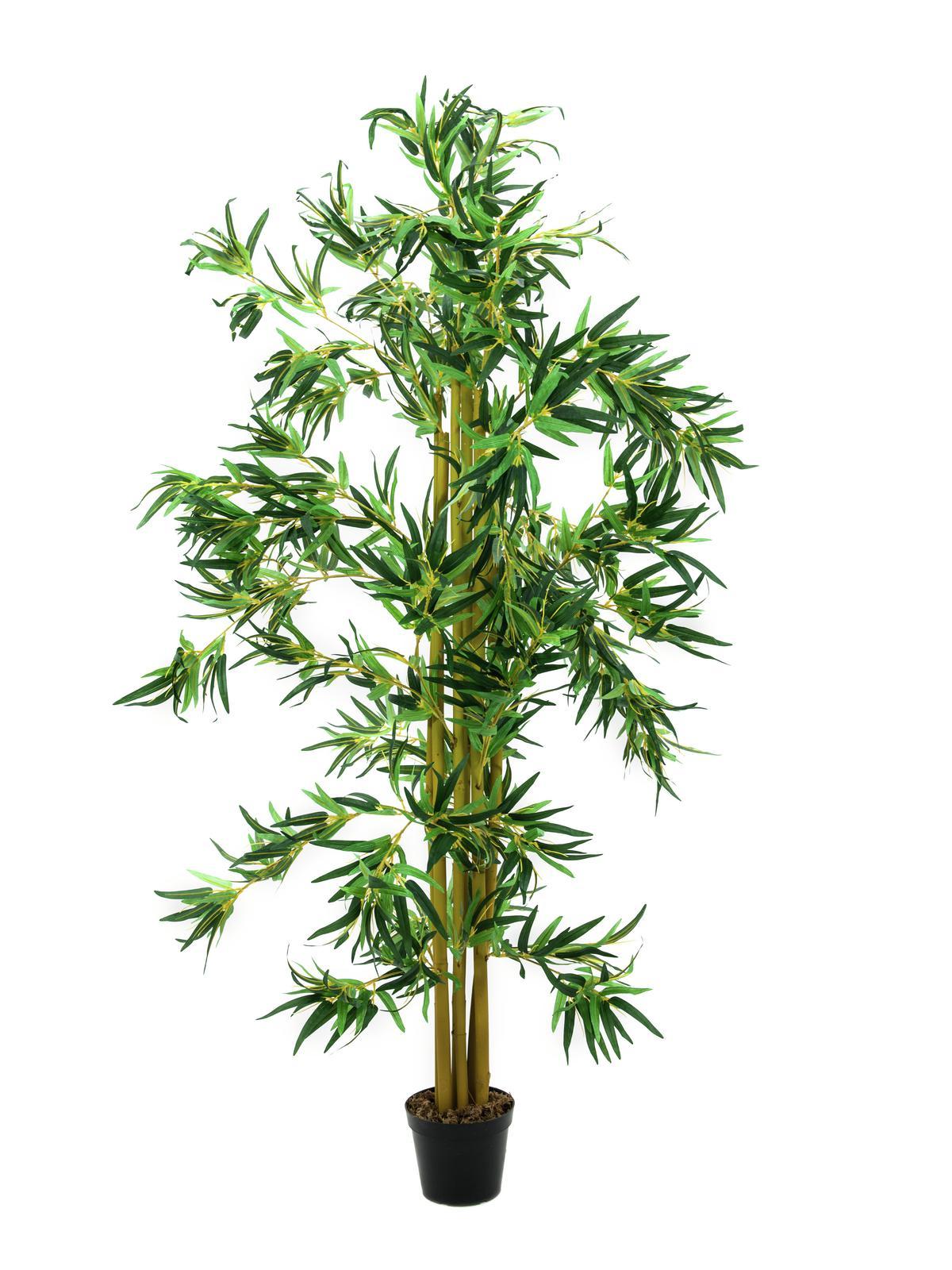 Kunstig Bambus multi-stammer, 210 cm