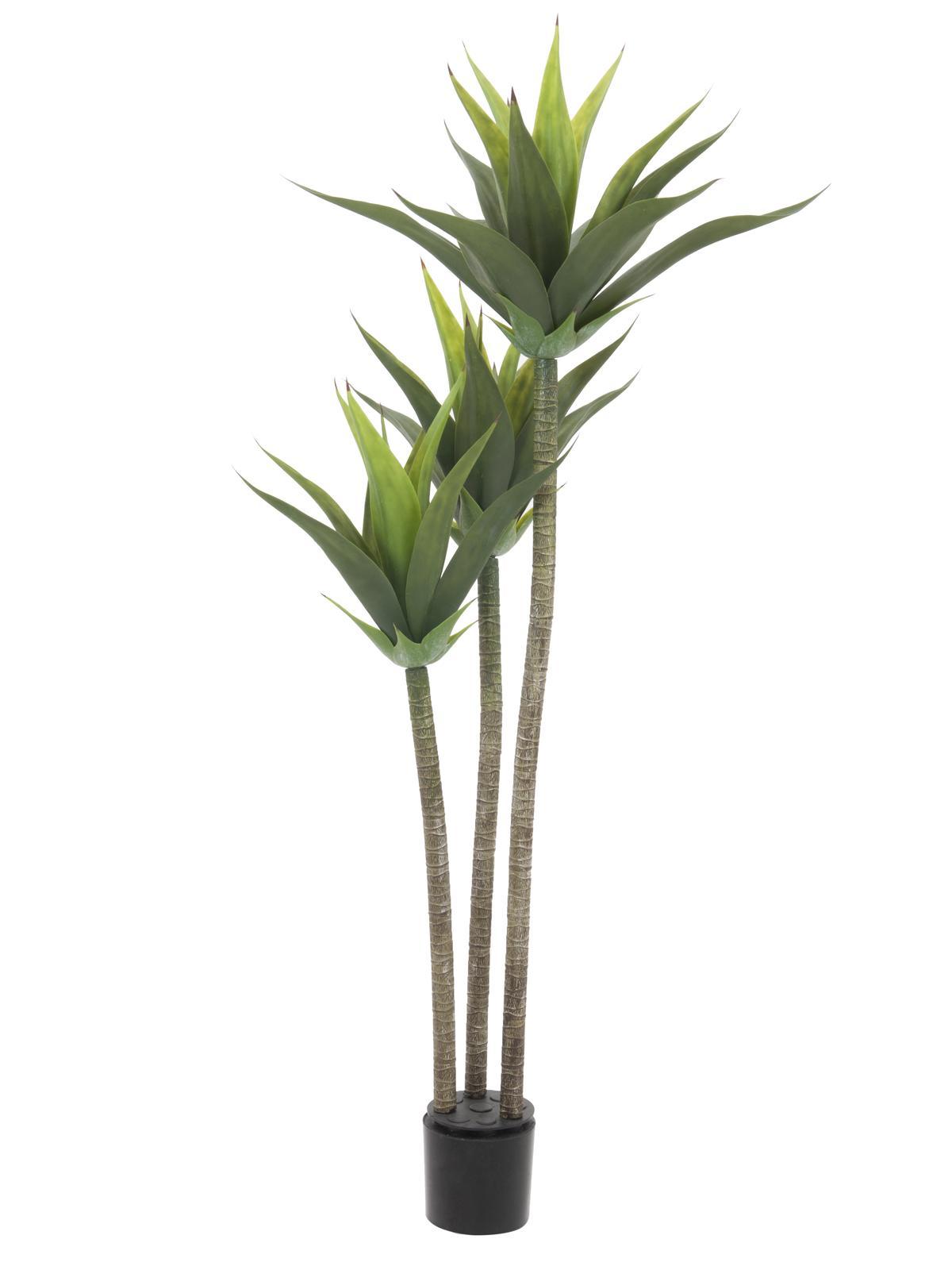 Kunstig Yucca palme, 3 stammer, 125cm