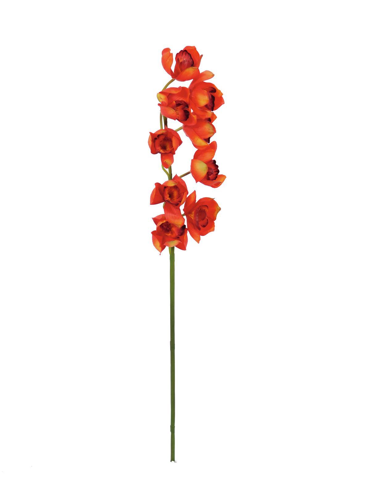 Image of   Kunstig Cymbidiumspray, red, 90cm