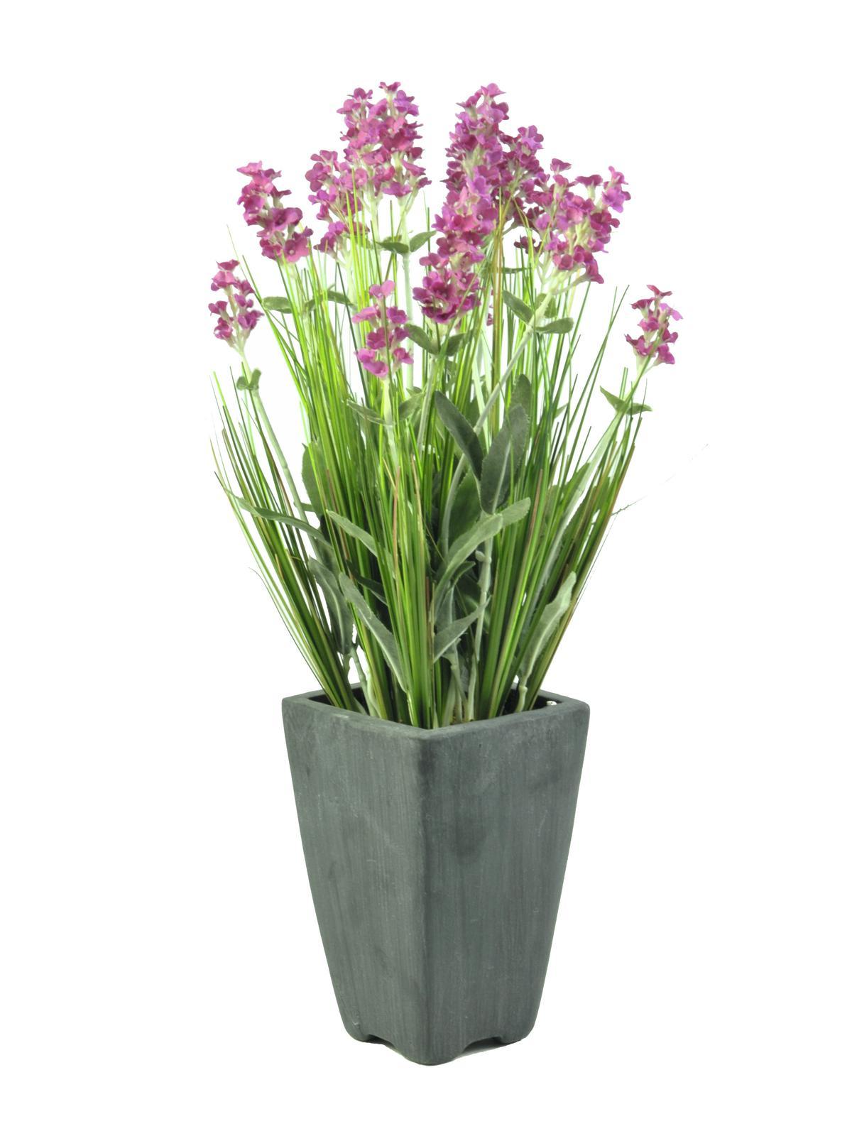 Image of   Kunstig Lavender, rose in pot, 45cm