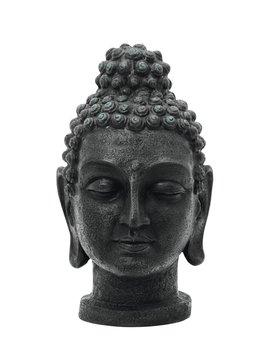 Billede af Head of Buddha, antique-black, 75cm