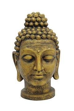 Billede af Head of Buddha, antique-gold, 75cm
