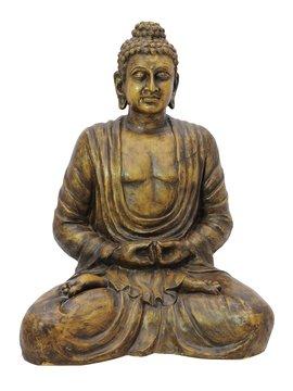 Billede af Buddha, antique-gold, 120cm