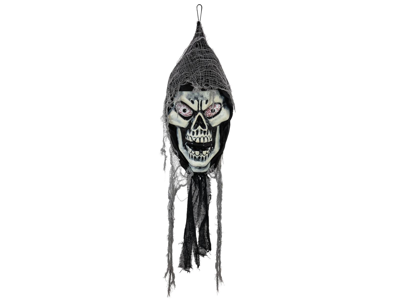 Image of   Halloween hængende zombi kranie