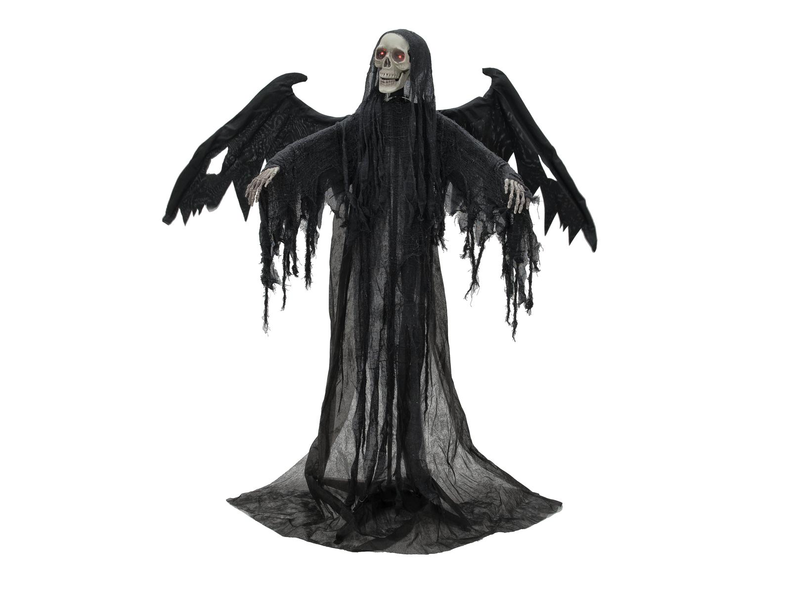 Image of   Halloween sort engel, 175 cm