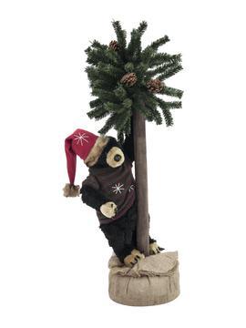 Julebjørn m. fyretræ, 105cm
