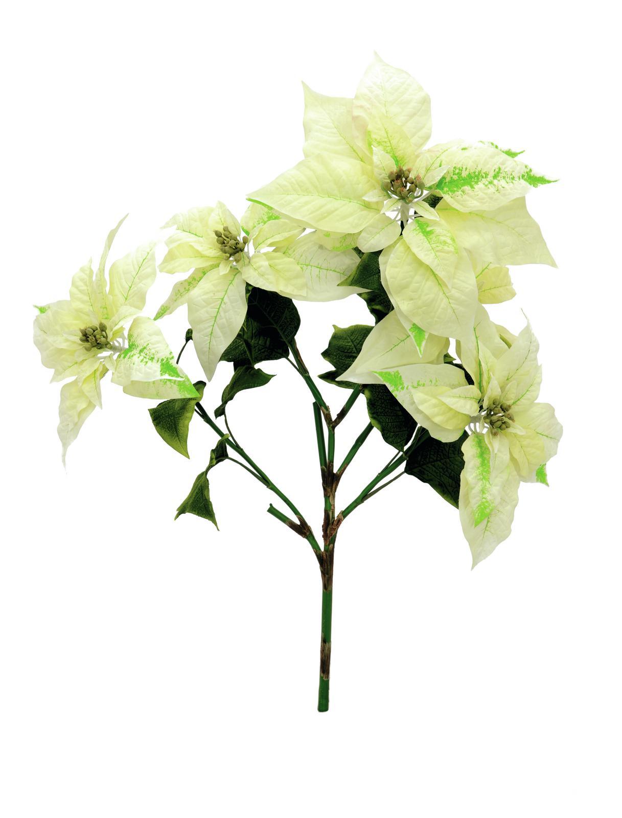 Image of   Kunstig Poinsettia bush, cream, 60cm