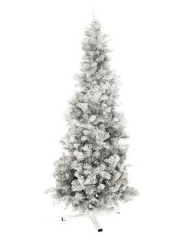 Fir tree FUTURA, silver metallic, 210cm