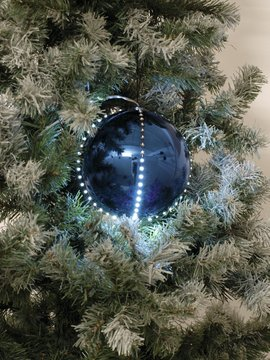 Europalms LED Snowball 8cm, dark blue 5x