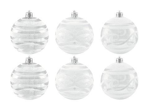 Billede af Deco Ball 7cm, clear, diverse designs 6x