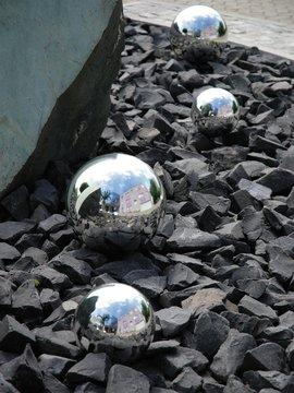 Billede af Deco Ball 10cm, silver 4x