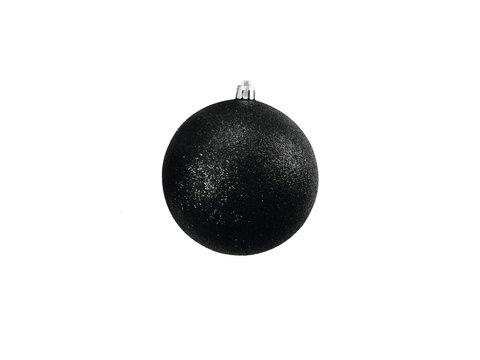 Billede af Deco Ball 10cm, black, glitter 4x