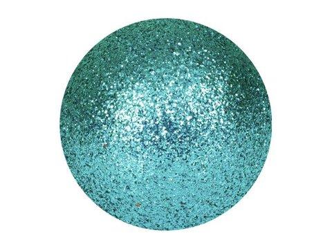 Billede af Deco Ball 6cm, turquoise, glitter 6x
