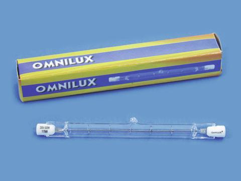 OMNILUX 230V/300W R7s 117mm pole burner