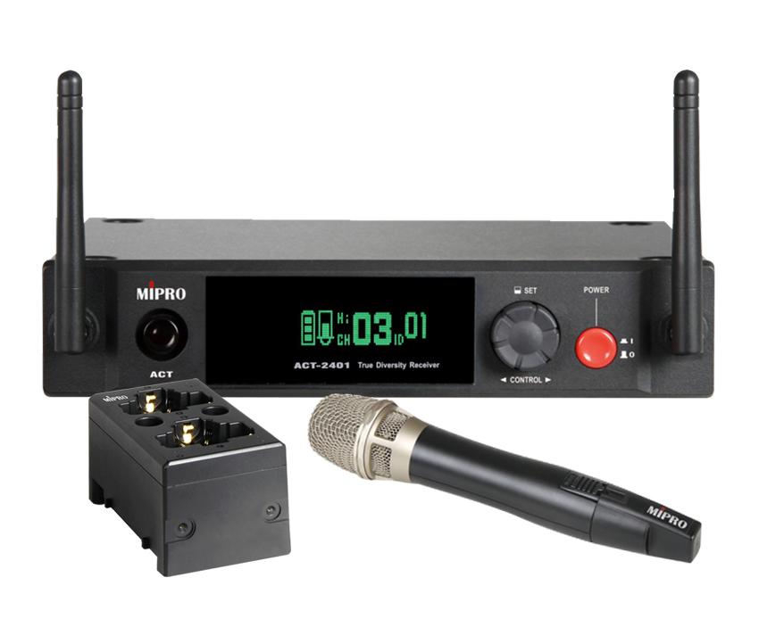 Image of   Mipro Digital trådløst sæt 2,4 GHz, m/ 24HC og MP-80