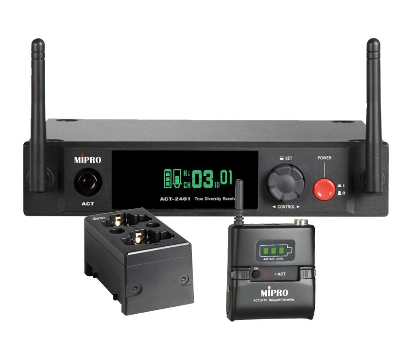 Mipro Digital trådløst sæt 2,4 GHz, m/ 24TC og MP-80