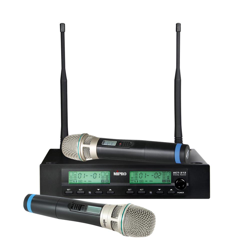 Image of   Mipro trådløs mikrofonsæt ACT312 med 2 håndholdte mikrofoner