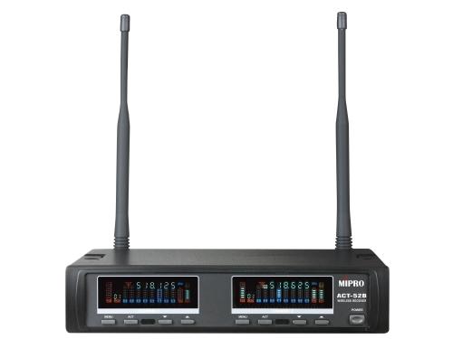 Image of   Mipro trådløs mikrofon modtager 2 kanals frekv. 597~608 MHz