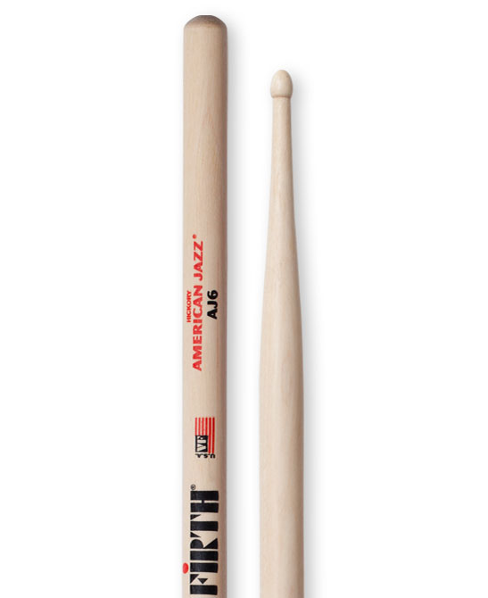 Image of   Vic Firth American Jazz AJ6 trommestikker