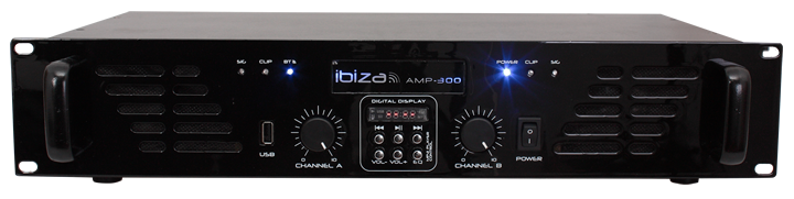 Ibiza poweramp m. bluetooth 2x240w