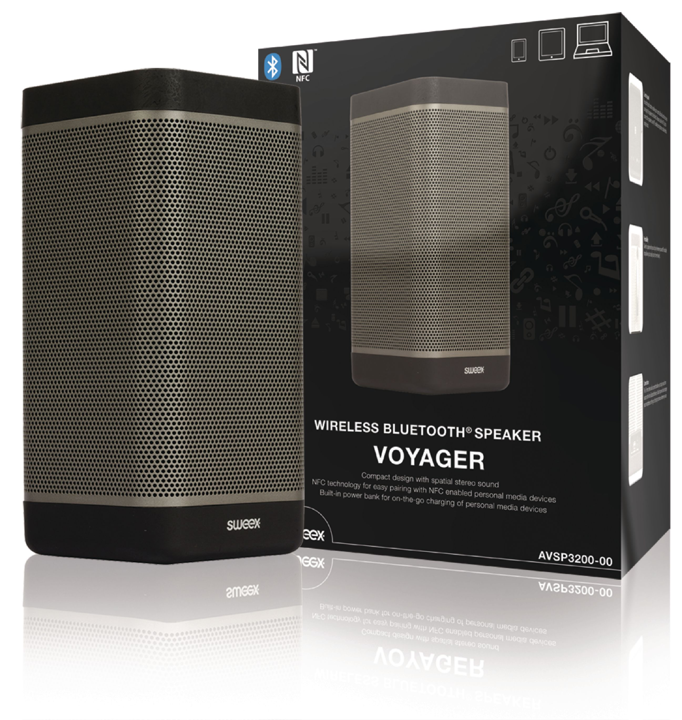Image of   Bluetooth Højttaler 2.0 Voyager 20 W Sort/Antracit