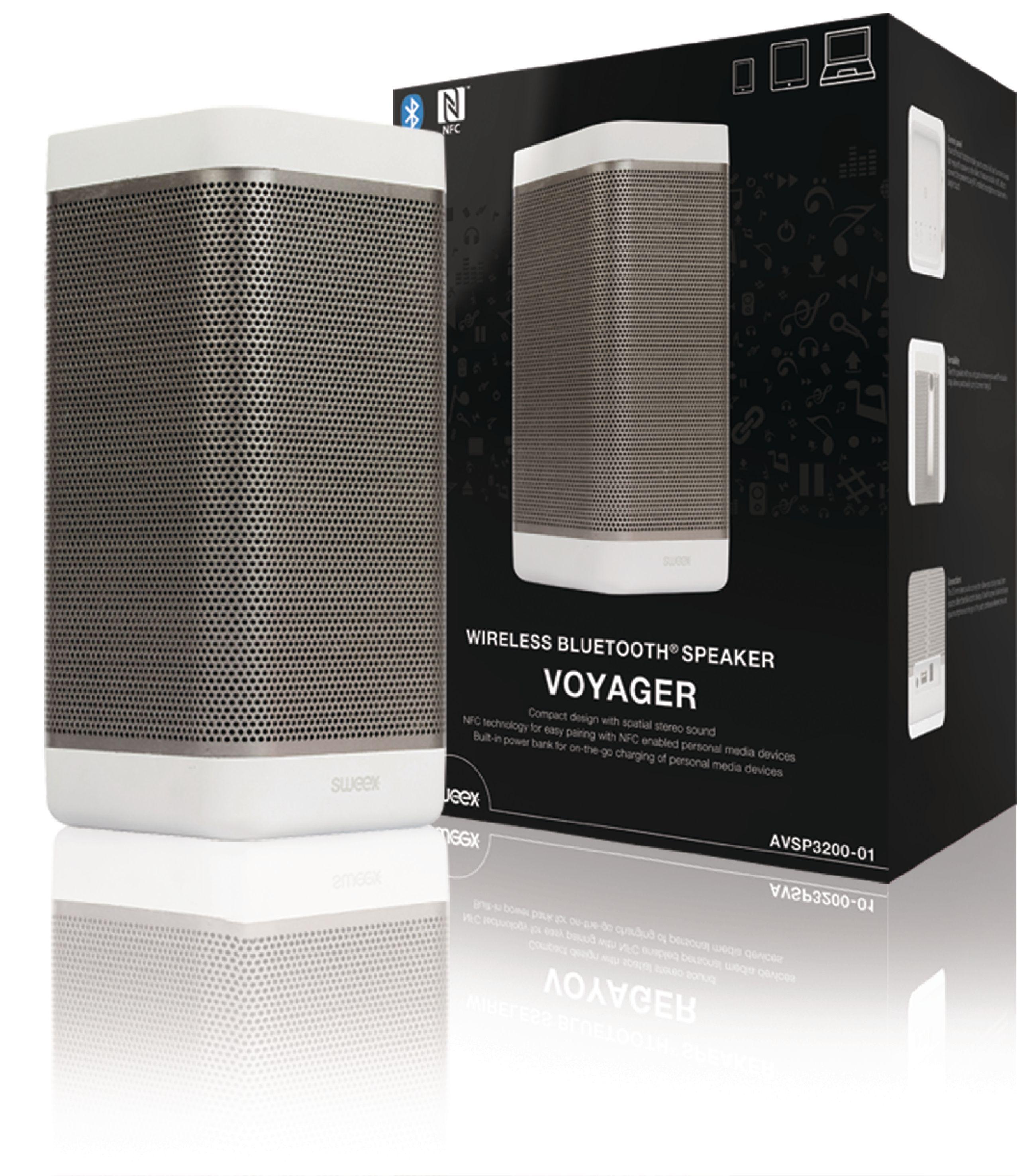 Image of   Bluetooth Højttaler 2.0 Voyager 20 W Hvid/Antracit