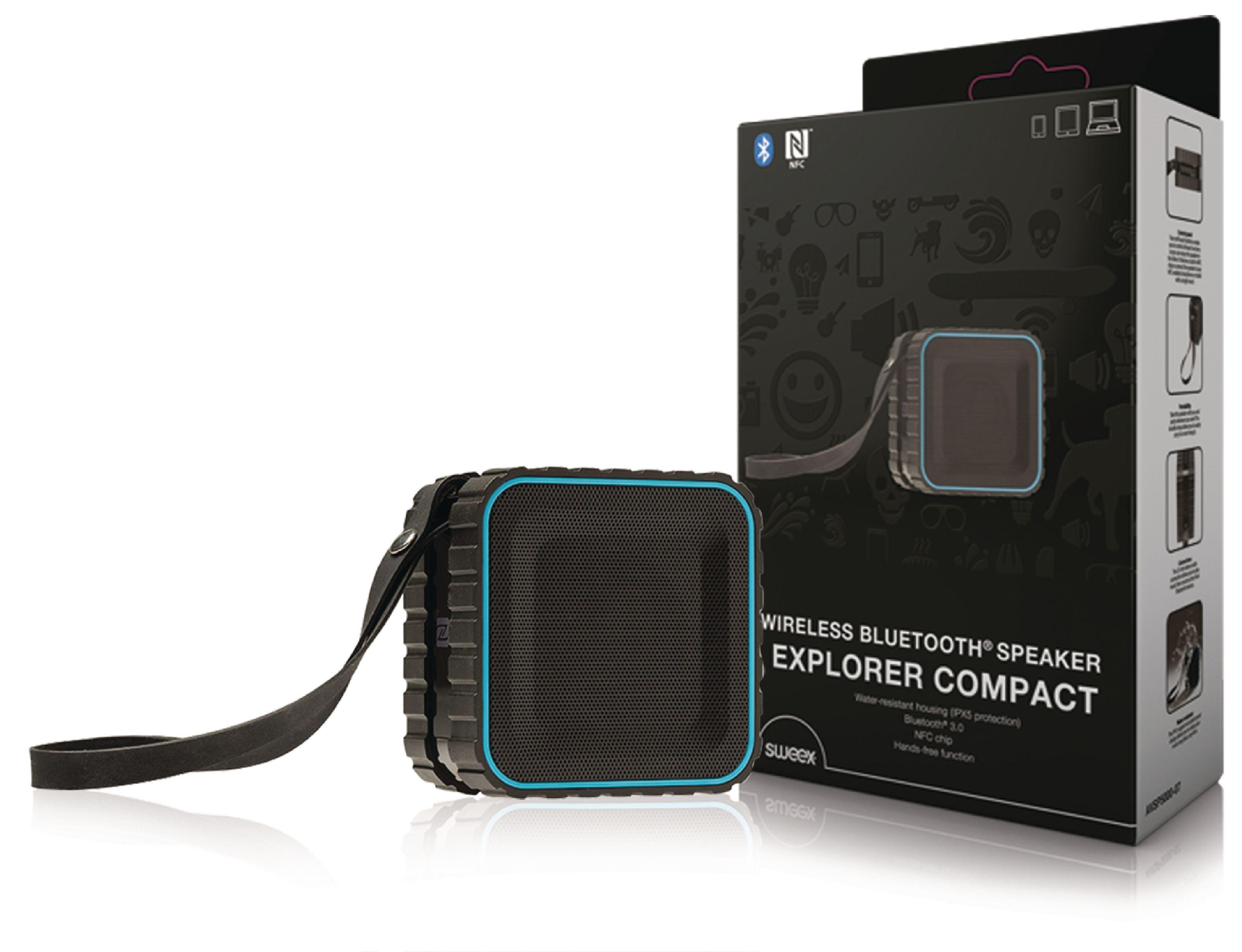 Image of   Bluetooth Højttaler 2.0 Explorer 3 W Indbygget Mikrofon Sort/Blå